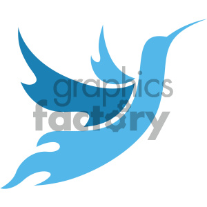 vector hummingbird icon clipart. Royalty-free image # 405537