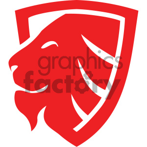 vector lion shield icon clipart. Royalty-free image # 405538
