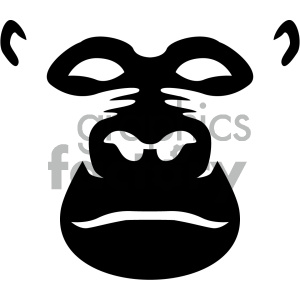 black gorilla vector icon clipart. Royalty-free image # 405542
