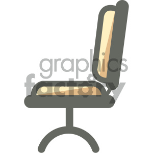 desk chair furniture icon