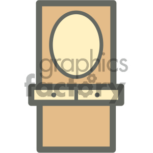 makeup cabinet furniture icon clipart. Royalty-free image # 405665