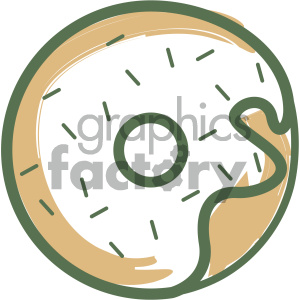 doughnut vector flat icon design clipart. Commercial use image # 405726