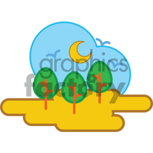 forest nature icon clipart. Commercial use image # 405743