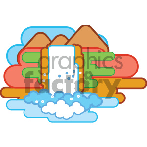 waterfall nature icon clipart. Royalty-free icon # 405755