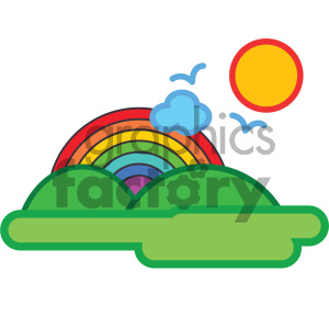 summer day nature icon
