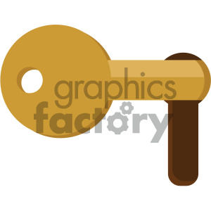 key in lock vector flat icon clipart. Royalty-free icon # 405775