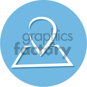 navigation map marker circle background vector flat icon clipart. Royalty-free image # 405800