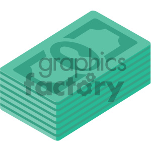 stack of money vector flat icon clipart. Royalty-free image # 405805