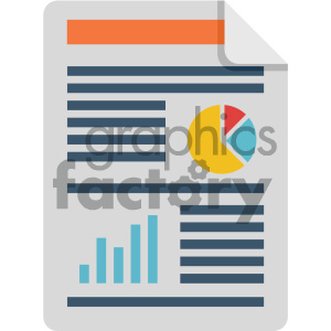 profit and loss vector flat icon clipart. Commercial use image # 405820