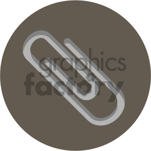 paper clip circle background vector flat icon clipart. Royalty-free image # 405868