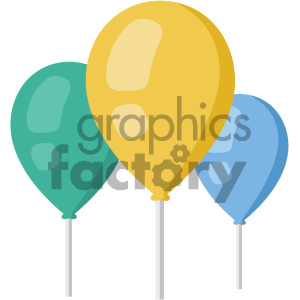 balloons vector flat icon clipart. Commercial use image # 405878