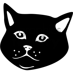 black and white cat vector art clipart. Royalty-free image # 405898
