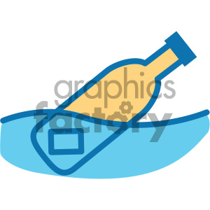 message in a bottle ocean icon clipart. Royalty-free image # 405918