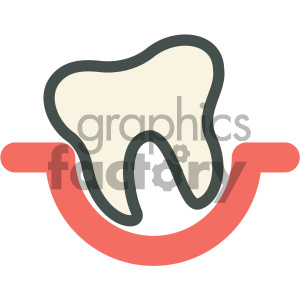 tooth pocket dental vector flat icon designs clipart. Royalty-free image # 405940