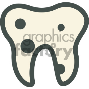 cavities tooth decay dental vector flat icon designs clipart. Royalty-free image # 405942