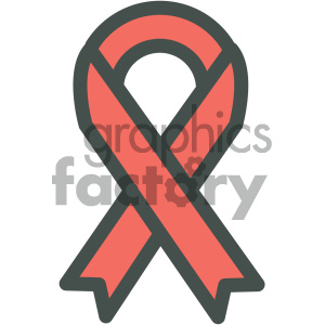 red ribbon aids medical vector icon clipart. Commercial use image # 405967