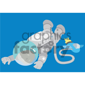 african american boy astronaut floating in space vector illustration
