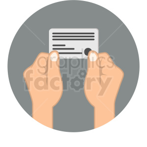 hands holding credit card icon clipart. Commercial use image # 406057