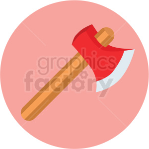 axe icon with pink circle background clipart. Royalty-free image # 406078