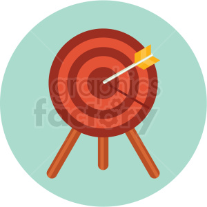 target icon with circle background clipart. Royalty-free image # 406086