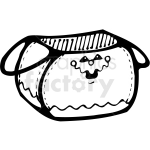 halloween basket clip art black and white clipart. Royalty-free image # 406128