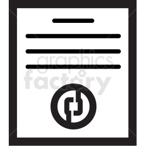 crypto white paper tech icon clipart. Royalty-free image # 406139