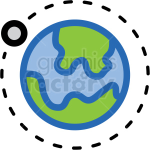 orbit earth vector icon clipart. Royalty-free image # 406231