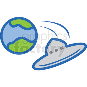 ufo leaving earth vector icon clipart. Commercial use image # 406232