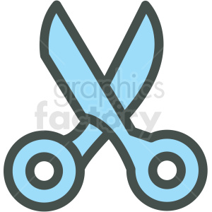scissors vector icon clip art clipart. Royalty-free icon # 406262