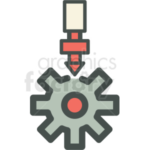 gears manufacturing icon clipart. Commercial use image # 406272