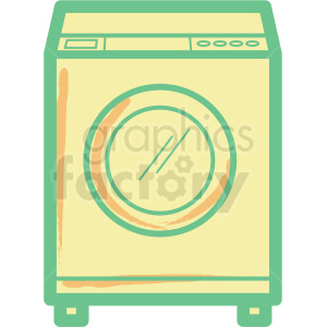 washing machine flat vector icon clipart. Commercial use image # 406322