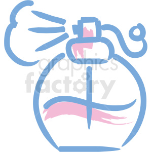 cosmetic makeup icons perfume bottle spray