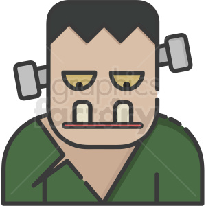 frankenstein character vector icon clipart. Royalty-free image # 406355