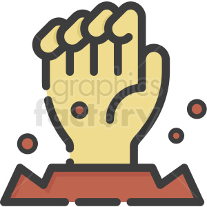 zombie hand vector hand clipart. Commercial use image # 406361