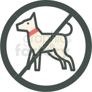 no dogs allowed vector icon