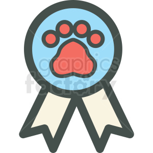 dog award ribbon paw