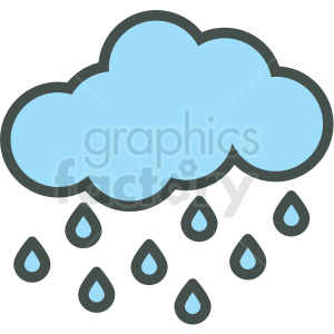 rain cloud vector icon clipart. Royalty-free icon # 406433