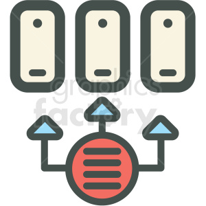 data transfer vector icon