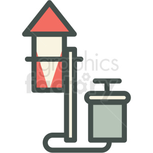 rocket with launcher guy fawkes day vector icon image clipart. Royalty-free image # 406507