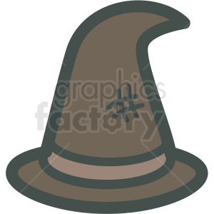 halloween witches hat vector icon image clipart. Royalty-free image # 406533