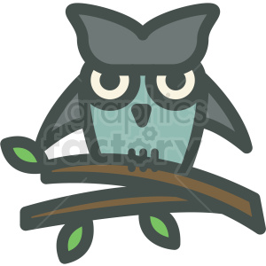 owl Halloween bird animal branch