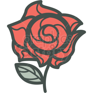 rose vector icon image clipart. Royalty-free icon # 406583