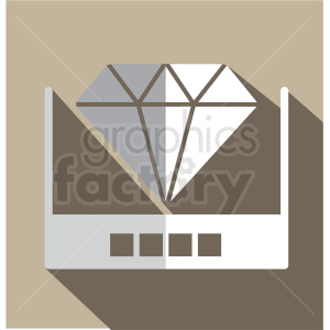 hologram vector icon clip art clipart. Royalty-free image # 406599