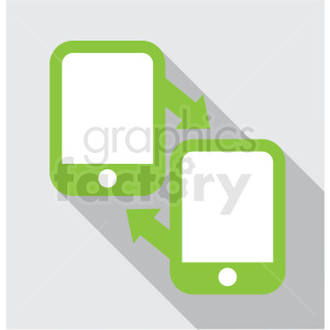 mobile data exchange with square background icon clip art clipart. Royalty-free image # 406619