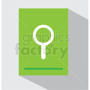 document search tool vector icon clip art clipart. Royalty-free image # 406634