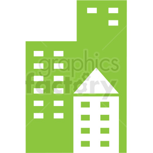 city buildings icon clip art clipart. Royalty-free image # 406650