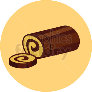 cake vector flat icon clipart with circle background