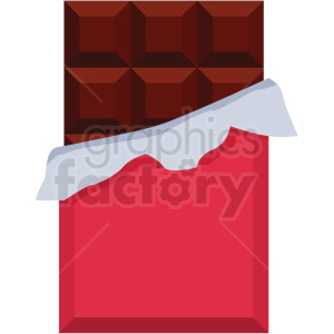 chocolate bar vector flat icon clipart with no background
