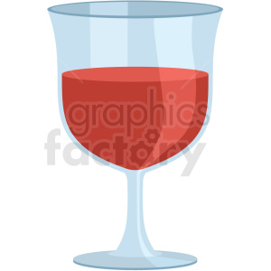 wine glass vector flat icon clipart with no background