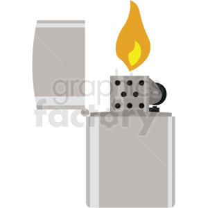 lighter flame vector flat icon clipart with no background